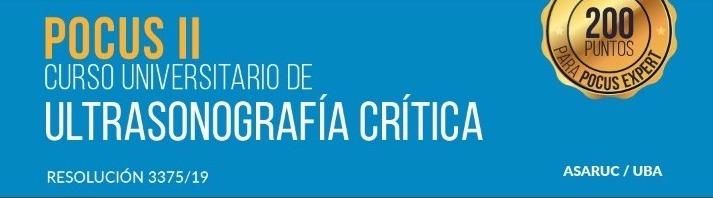 CURSO ULTRASONOGRAFÍA CRÍTICA  2020